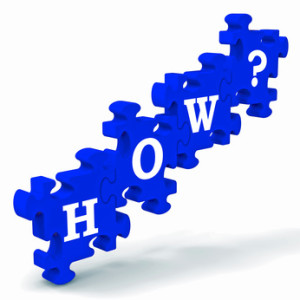 How? Puzzle Shows Different Ways Or Methods To Solve Problems
